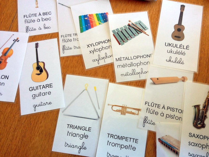 Flashcards des instruments de musique