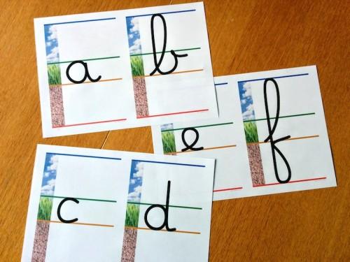 alphabet - lignage terre-herbe-ciel