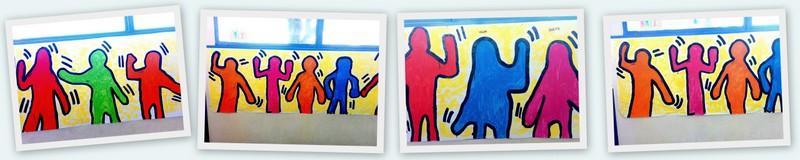 A la manière de Keith Haring - Portrait en pied - panoramique