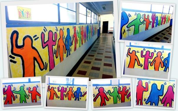 A la manière de Keith Haring - Portrait en pied