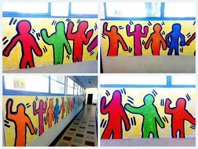 A la manière de Keith Haring - Portrait en pied2