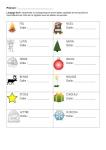 correspondance capitales minuscules script - mots Noël - cahier de progrès
