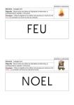 correspondance capitales minuscules script - mots Noël - fiches
