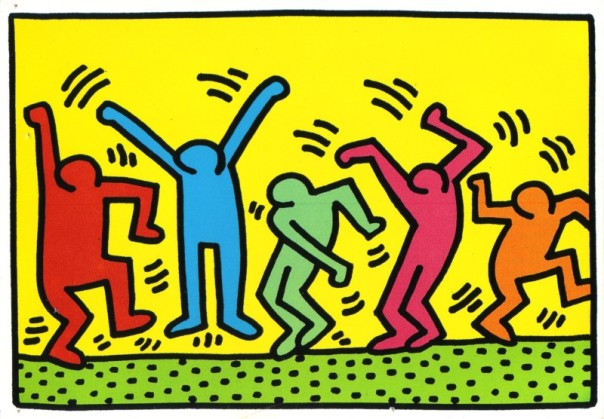 Keith Haring - 1987 - Sans titre (dance)