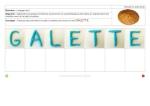 écrire en pâte à modeler - mots de la galette - fiches