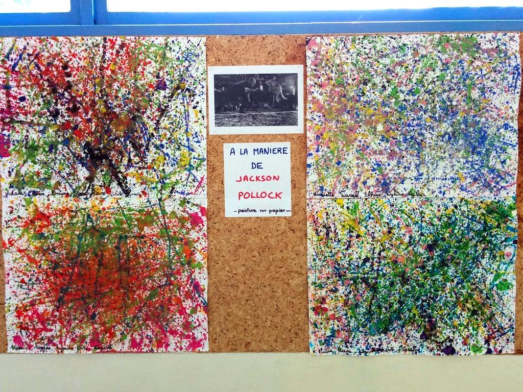 Tableau Et Cadre Photo A La Maniere De Jackson Pollock Maitre Francois