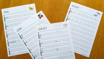 Debuter En Ecriture Cursive Sur Lignage Feu Terre Herbe Ciel Maitre Francois